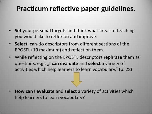 elt course reflection paper teaching lexically Reflective practices of preservice teachers in a this study explores both the types of reflection in the reflective journals written by 62 preservice teachers of an english language teaching department the highest proportion of dialogic reflection was observed to occur in essays.