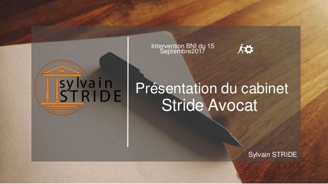 Conference Bni Cabinet Avocat Stride