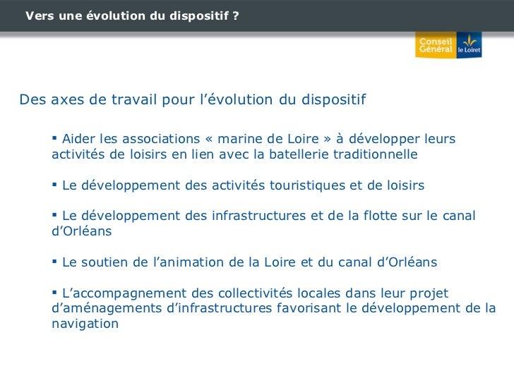 Vers une évolution du dispositif ? Des axes de travail pour l'évolution du dispositif <ul><li>Aider les associations «mar...