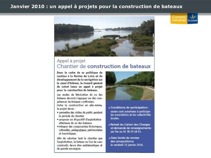 Janvier 2010 : un appel à projets pour la construction de bateaux