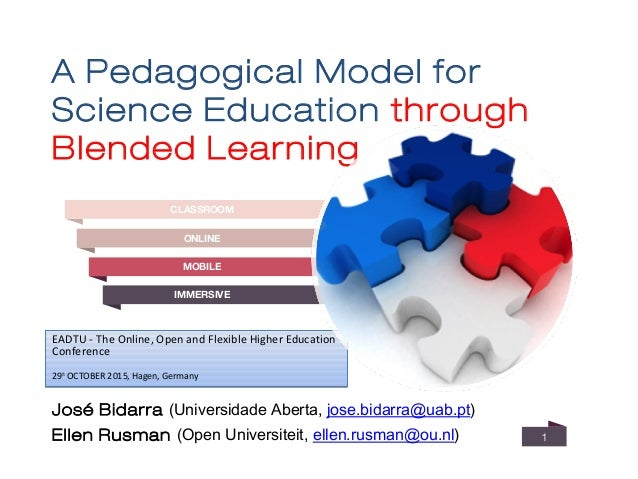 A Pedagogical Model for Science Education through Blended Learning 1 EADTU - The Online, Open and Flexible Higher Educatio...