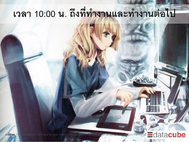 เวลา 10:00 น. ถึงที่ทำงานและทำงานต่อไป source: http://stuffpoint.com/anime-and-manga/image/285181-anime-and-manga-girl-wor...