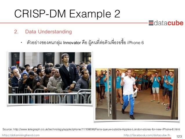 http://dataminingtrend.com http://facebook.com/datacube.th CRISP-DM Example 2 2. Data Understanding • ตัวอย่างของคนกลุ่ม I...