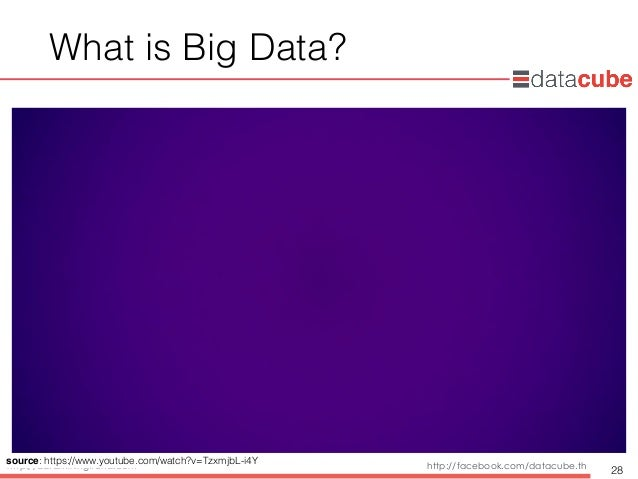 http://dataminingtrend.com http://facebook.com/datacube.th What is Big Data? 28 source: https://www.youtube.com/watch?v=Tz...