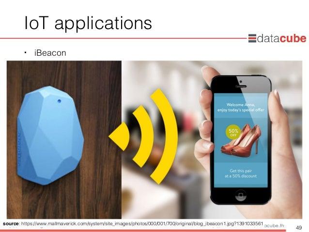 http://dataminingtrend.com http://facebook.com/datacube.th IoT applications • iBeacon 49 source: https://www.mallmaverick....