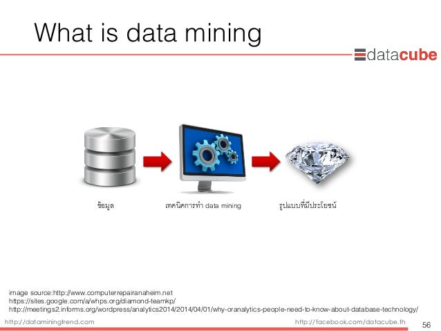 http://dataminingtrend.com http://facebook.com/datacube.th What is data mining 56 ข้อมูล' เทคนิคการทำ data mining' รูปแบบท...
