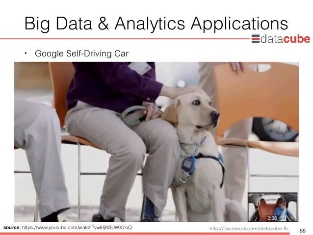 http://dataminingtrend.com http://facebook.com/datacube.th Big Data & Analytics Applications • Google Self-Driving Car 88 ...
