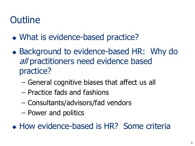 Understanding Evidence-Based Public Health Policy