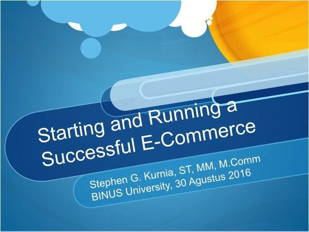 B2B and B2C E-Commerce