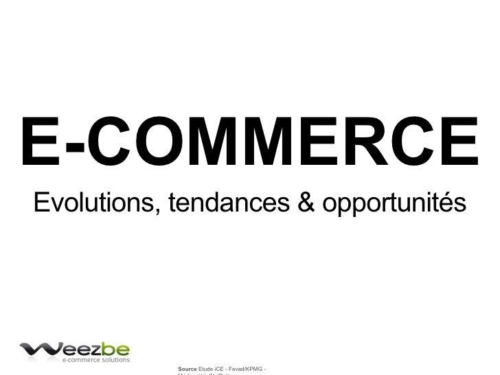 E-COMMERCE Evolutions, tendances & opportunités