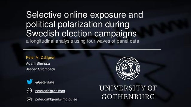 Selective online exposure and political polarization during Swedish election campaigns a longitudinal analysis using four ...
