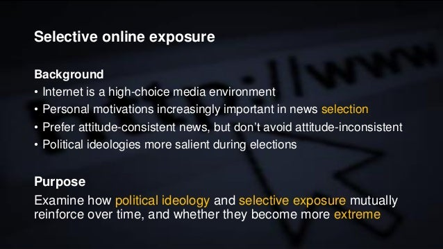 Selective online exposure and political polarization during Swedish election campaigns Slide 2