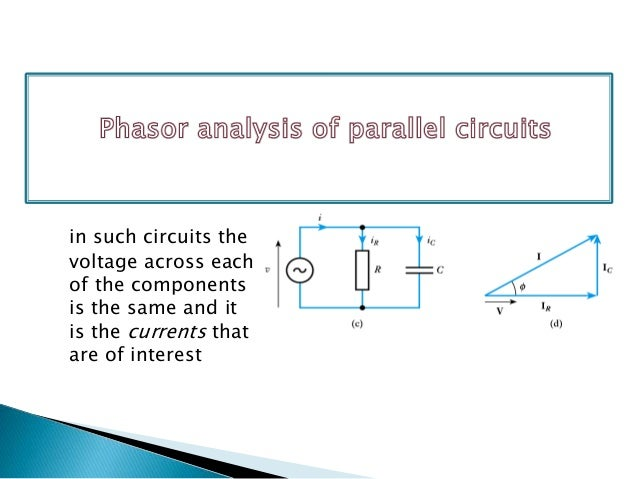 Analysis of phasor diagram phasor analysis of an rc circuit ccuart Image collections
