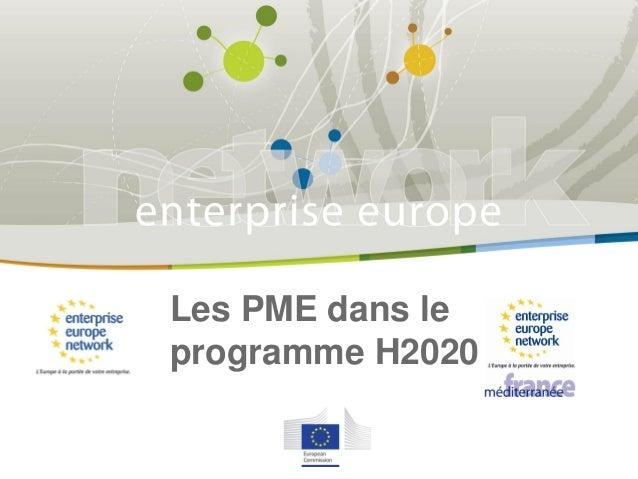 Les PME dans le programme H2020