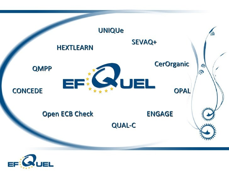 QMPP HEXTLEARN Open ECB Check QUAL-C ENGAGE SEVAQ+ OPAL CONCEDE CerOrganic UNIQUe