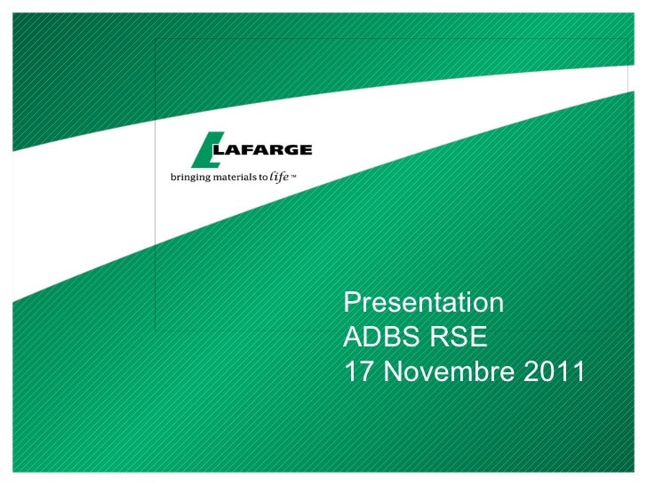 Presentation  ADBS RSE 17 Novembre 2011
