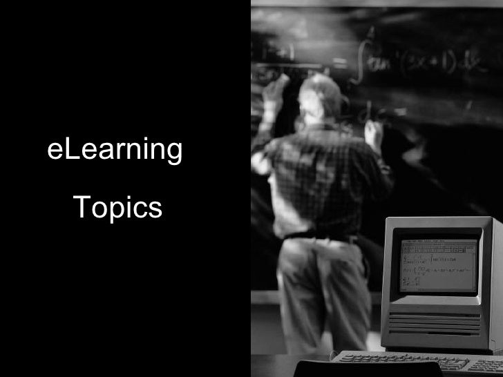 eLearning Topics