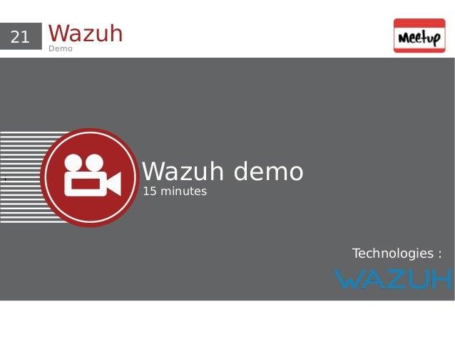 Présentation et démo ELK/SIEM/Wazuh
