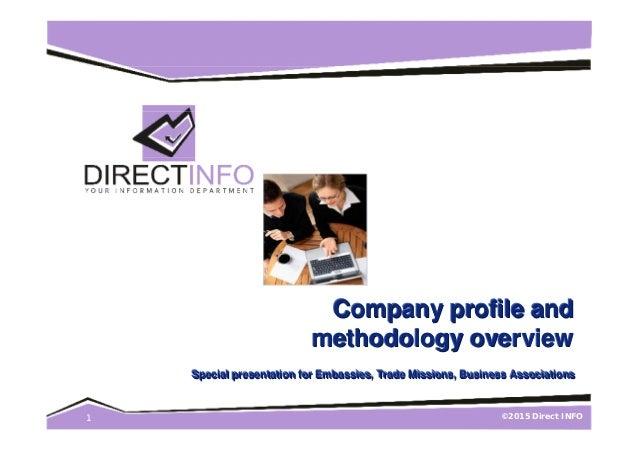 ©2015 Direct INFO1 Company profile andCompany profile andCompany profile and methodology overviewmethodology overviewmetho...