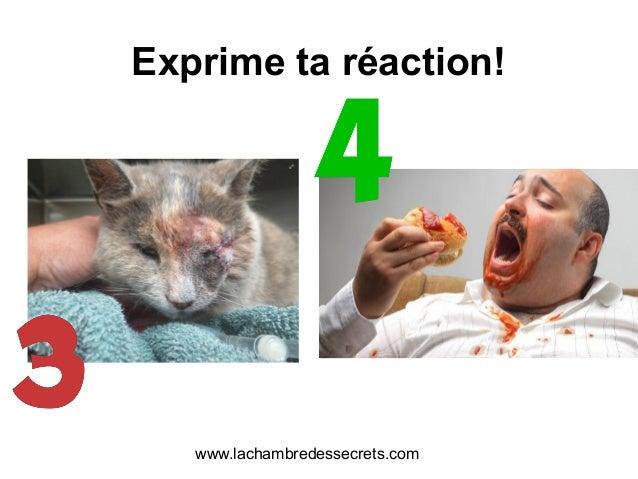 Exprime ta réaction! www.lachambredessecrets.com
