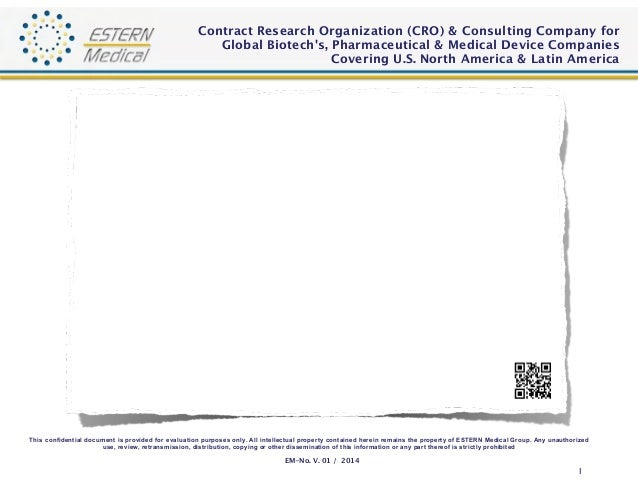 Contract Research Organization (CRO) & Consulting Company for  Global Biotech's, Pharmaceutical & Medical Device Companies...