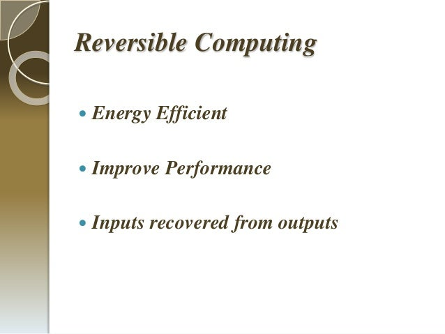 Presentation Energy Efficient Code Converters Using Reversible Logic