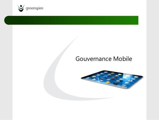 Gouvernance Mobile