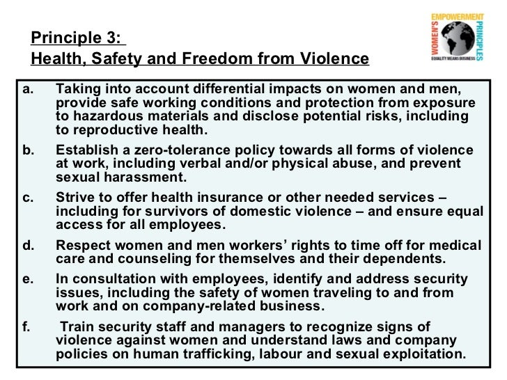 Legislation and Policies Related to Domestic Violence