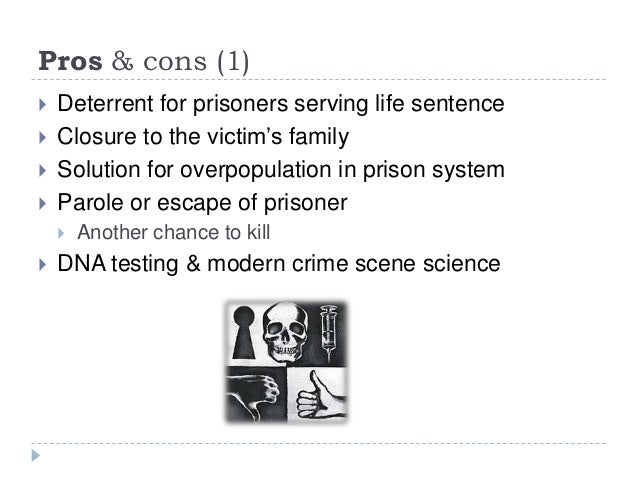 presentation death penalty english  pros cons