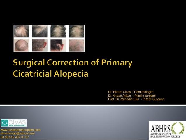 Dr. Ekrem Civas – Dermatologist Dr. Andaç Aykan - Plastic surgeon Prof. Dr. Muhitdin Eski - Plastic Surgeon www.civashairt...
