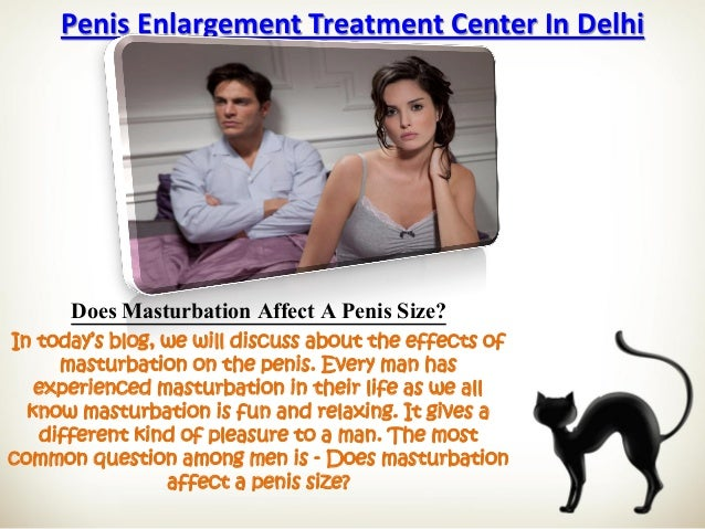 does masturbation affect penis size