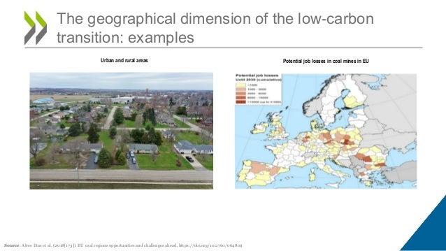 The geographical dimension of the low-carbon transition: examples Source: Alves Dias et al. (2018[173]). EU coal regions o...