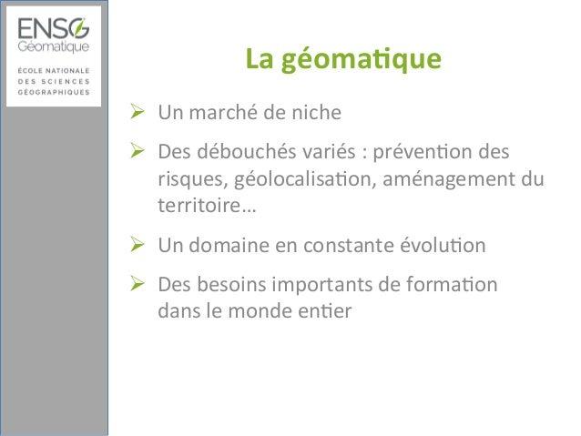 Réutilisation des ressources : de la conception pédagogique à l'optimisation des parcours en distanciel : Exemple de l'École nationale des sciences géographiques Slide 3