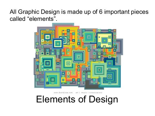 All The Elements Of Design : Elements of graphic design