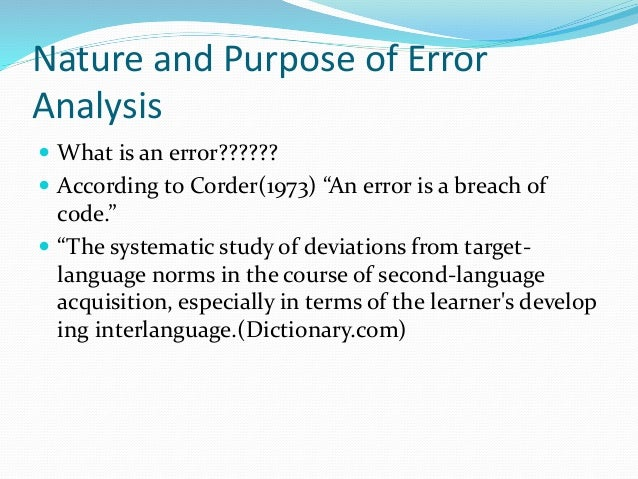 error analysis socio presentation Teaching with a mountain view, ltd is a participant in the amazon services llc associates program, an affiliate advertising program designed to provide a means for sites to earn advertising fees by advertising and linking to amazoncom.