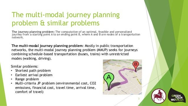The multi-modal journey planning problem & similar problems The journey planning problem: The computation of an optimal, f...