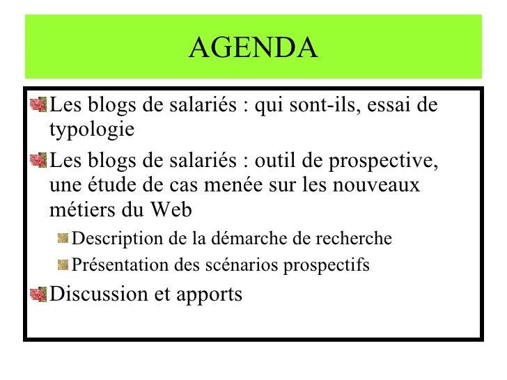 Influence des nouveaux métiers du Web sur l\'organisation : hypothèses Slide 2