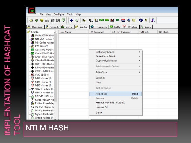 password cracking using John the ripper, hashcat, Cain&abel