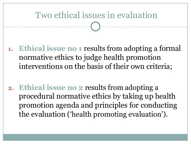 program evaluators and ethical challenges
