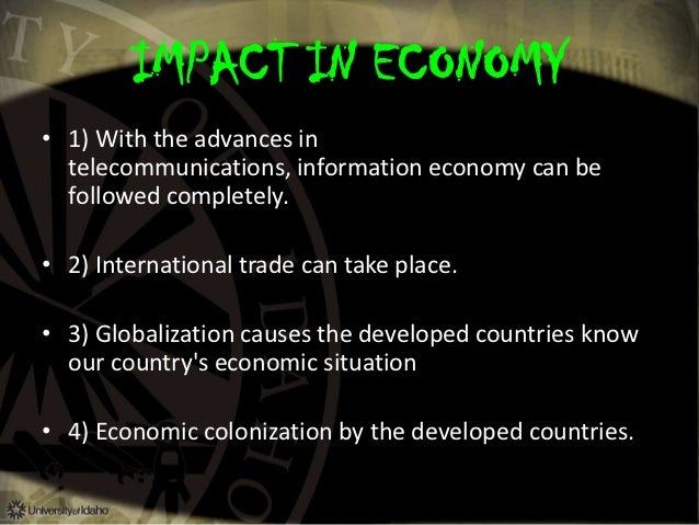 effect of economic globalization on politics Nwoods, ipe in an age of globalization, p2 perpetuates institutions and what impact institutions have on the world economy the post-war world economy.