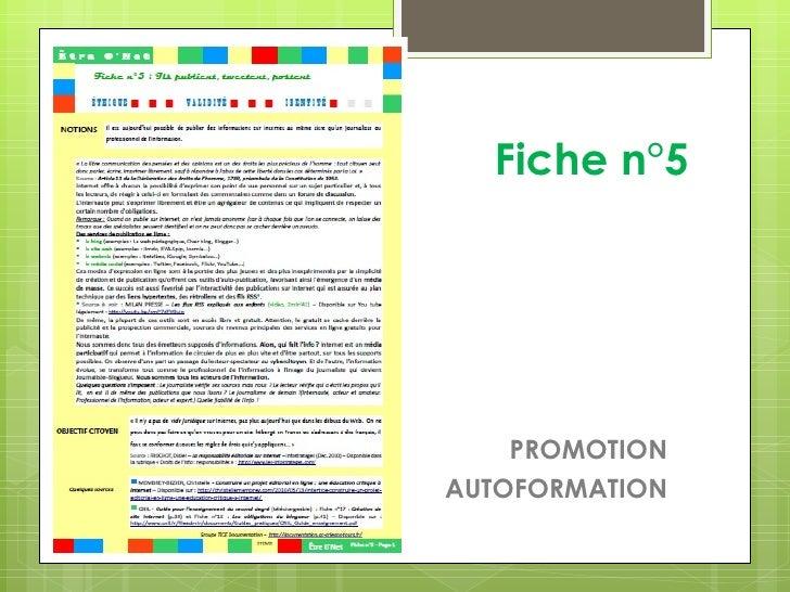 Fiche n°5    PROMOTIONAUTOFORMATION