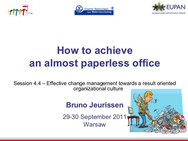 achieving a paperless office