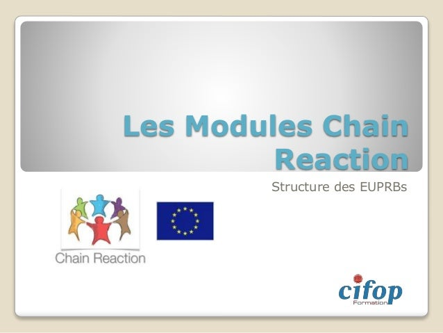 Les Modules Chain Reaction Structure des EUPRBs