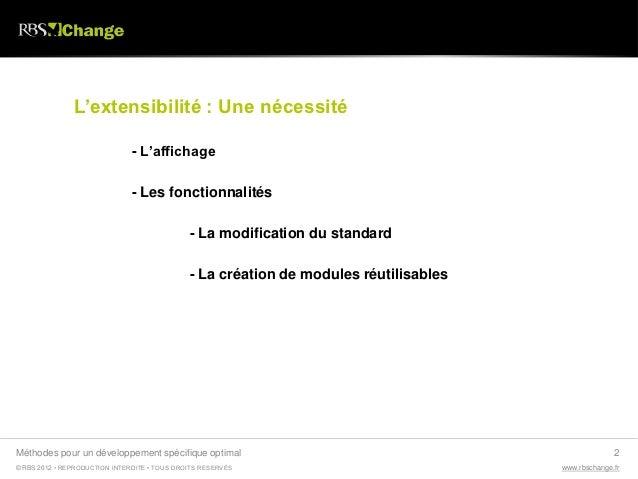 RBS Change - développements spécifiques Slide 2