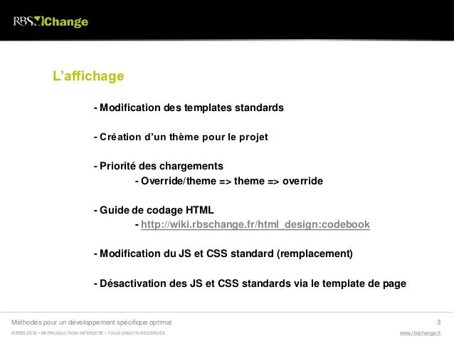 RBS Change - développements spécifiques Slide 3