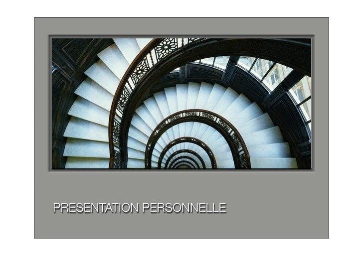 PRESENTATION PERSONNELLE