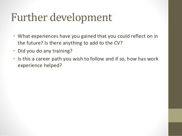 work experience presentation example