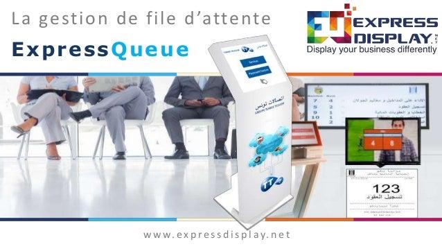 La gestion de file d'attente ExpressQueue w w w. e x p re s s d i s p l ay. n e t