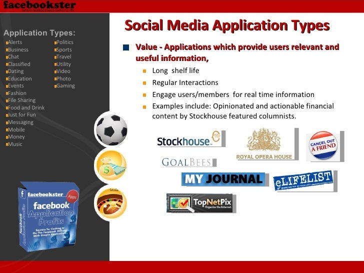 <ul><li>Value - Applications which provide users relevant and useful information, </li></ul><ul><ul><li>Long  shelf life <...
