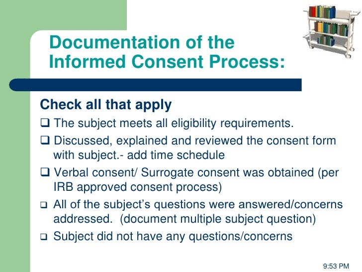 Management Of Clinical Trials Sponser Perspective From Falgun Vyas - Informed consent process documentation template